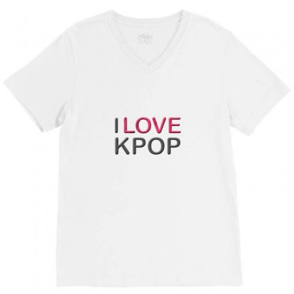 Love Pop V-neck Tee Designed By Love