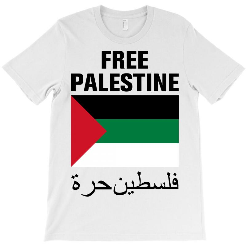 Free Palestine With Flag T-shirt | Artistshot