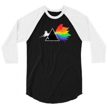 Dark Side Of The Kitsune 3/4 Sleeve Shirt Designed By Monzart