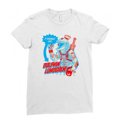 Dolphin Lundgren Ladies Fitted T-shirt Designed By Monzart