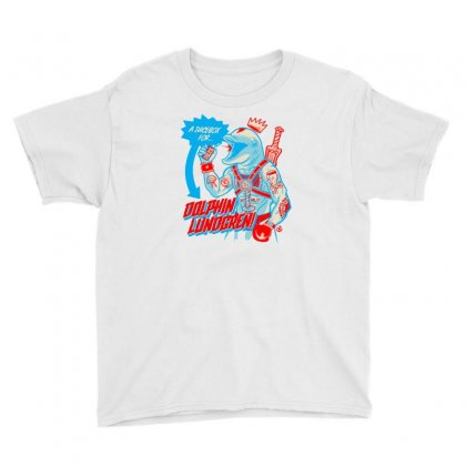 Dolphin Lundgren Youth Tee Designed By Monzart