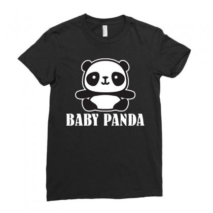 Baby Panda Ladies Fitted T-shirt Designed By Ofutlu