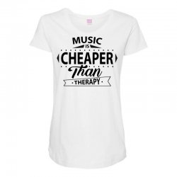 Music Is Cheaper Than Therapy Maternity Scoop Neck T-shirt | Artistshot