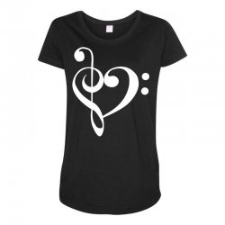 music heart rock baseball Maternity Scoop Neck T-shirt | Artistshot