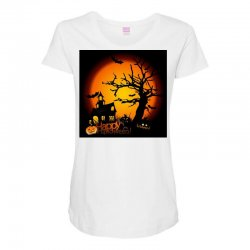 Happy Halloween Maternity Scoop Neck T-shirt | Artistshot