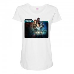 stranger things 01 Maternity Scoop Neck T-shirt | Artistshot