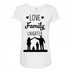 love family laughter Maternity Scoop Neck T-shirt | Artistshot