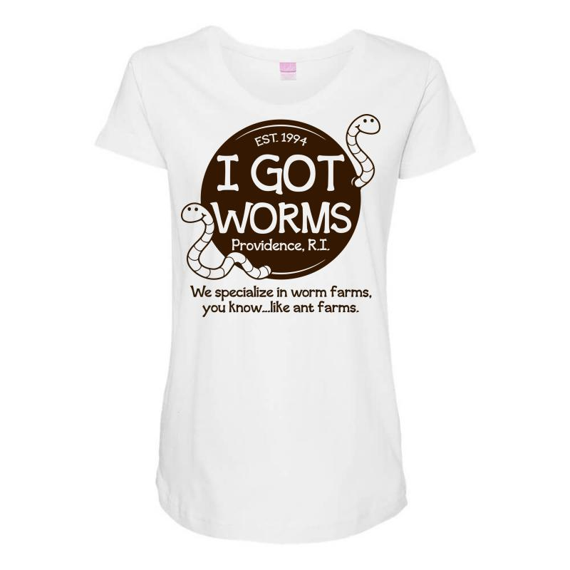 75bb8460298c Custom I Got Worms Maternity Scoop Neck T-shirt By Deomatis9888 ...