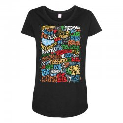 funny john lennon imagine quote Maternity Scoop Neck T-shirt | Artistshot