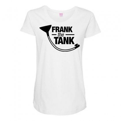 Frank The Tank Maternity Scoop Neck T-shirt Designed By Tonyhaddearts