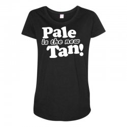 pale is the new tan! Maternity Scoop Neck T-shirt | Artistshot