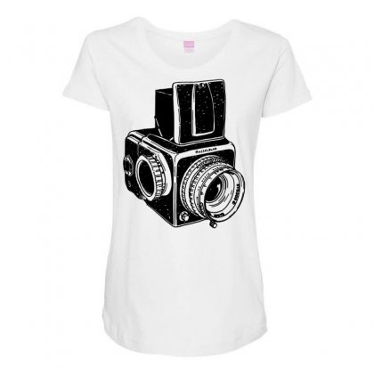 Hasselblad Vintage Camera Maternity Scoop Neck T-shirt Designed By Tonyhaddearts
