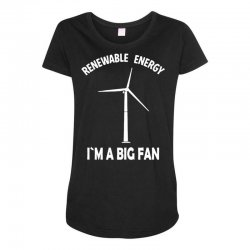 renewable energy Maternity Scoop Neck T-shirt | Artistshot