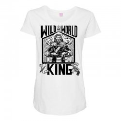 Wild World King Maternity Scoop Neck T-shirt | Artistshot