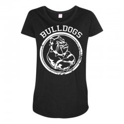 Bulldog Sports Team Maternity Scoop Neck T-shirt | Artistshot
