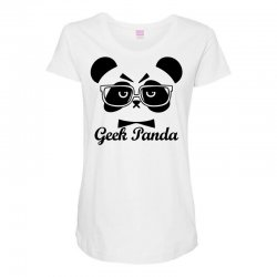 Geek Panda Maternity Scoop Neck T-shirt | Artistshot