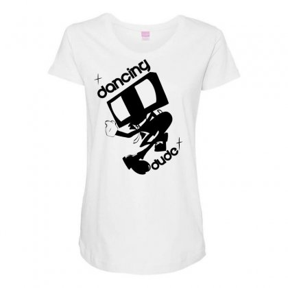 Dancing Dude Maternity Scoop Neck T-shirt Designed By Specstore