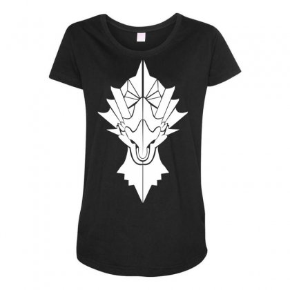 Dragon Slayer Maternity Scoop Neck T-shirt Designed By Specstore