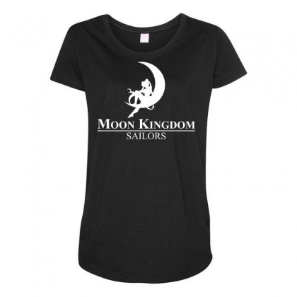 Moon Kingdom Maternity Scoop Neck T-shirt Designed By Specstore