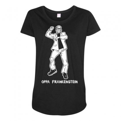 Oppa Frankenstein Maternity Scoop Neck T-shirt Designed By Specstore