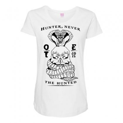 Ote Hunter Never The Hunter Maternity Scoop Neck T-shirt Designed By Specstore