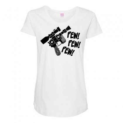 Pew Pew Pew Maternity Scoop Neck T-shirt Designed By Specstore