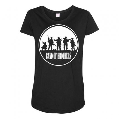 Usmc A Band Of Brothers Maternity Scoop Neck T-shirt Designed By Specstore