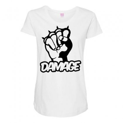 Damage Punch Maternity Scoop Neck T-shirt Designed By Specstore