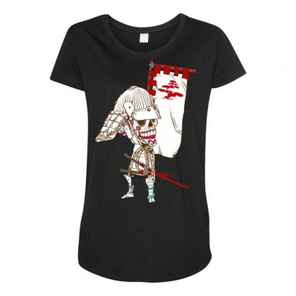 Dead Sugar Samurai Maternity Scoop Neck T-shirt Designed By Specstore