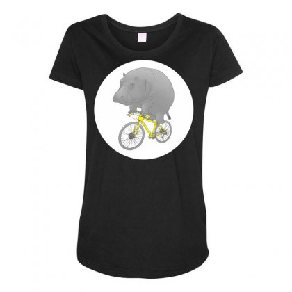 Dont Forget The Helmet Maternity Scoop Neck T-shirt Designed By Specstore