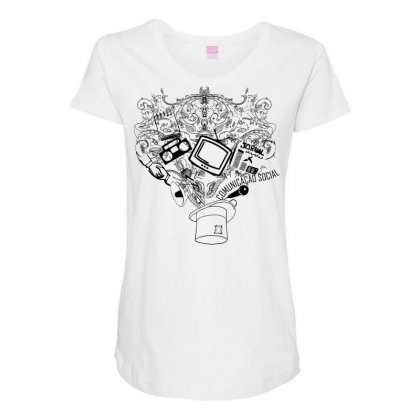 Magic Hat Of Social Maternity Scoop Neck T-shirt Designed By Specstore