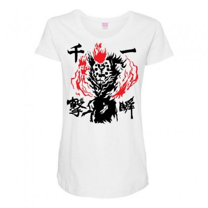 Raging Demon Maternity Scoop Neck T-shirt Designed By Specstore