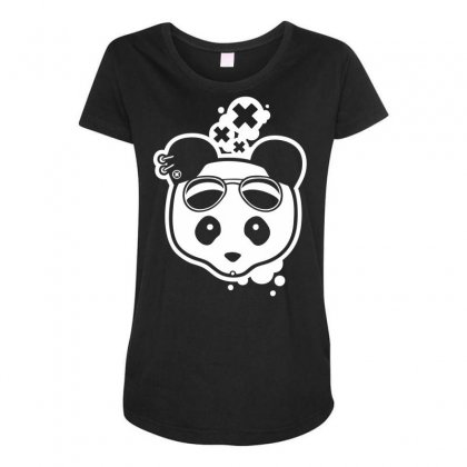 Super Hippies Panda Maternity Scoop Neck T-shirt Designed By Specstore