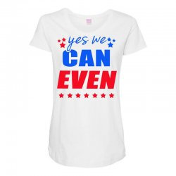 Yes We Can Even Maternity Scoop Neck T-shirt | Artistshot