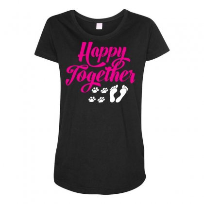 Happy Together With Pet Maternity Scoop Neck T-shirt Designed By Specstore