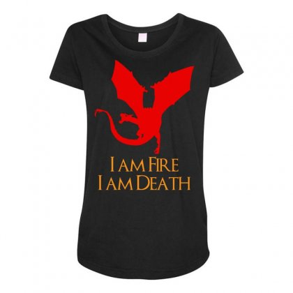 I Am Fire I Am Death Maternity Scoop Neck T-shirt Designed By Specstore