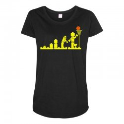 evolution lego basketball sports funny Maternity Scoop Neck T-shirt | Artistshot