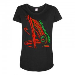 The Low End Theory Maternity Scoop Neck T-shirt | Artistshot