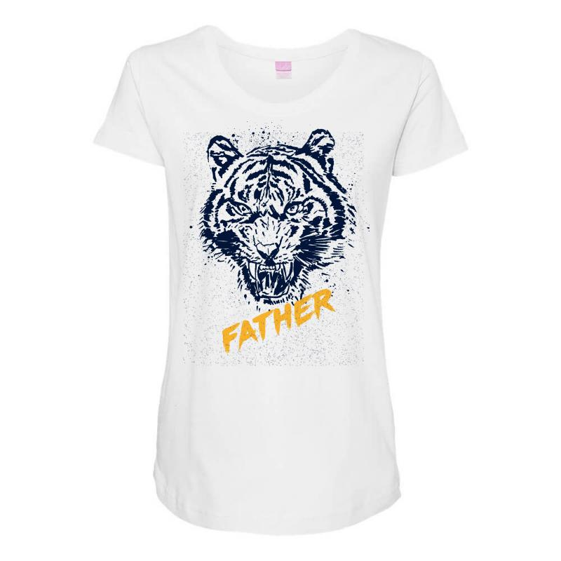 8a249bff90cf Custom Father Animal Maternity Scoop Neck T-shirt By Frg - Artistshot