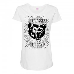 Stay Free Stay Wild Maternity Scoop Neck T-shirt | Artistshot