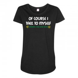 geek expert advice   science   physics   nerd t shirt Maternity Scoop Neck T-shirt | Artistshot