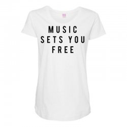 music sets you free Maternity Scoop Neck T-shirt | Artistshot