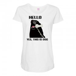 hello yes this is dog telephone phone Maternity Scoop Neck T-shirt | Artistshot