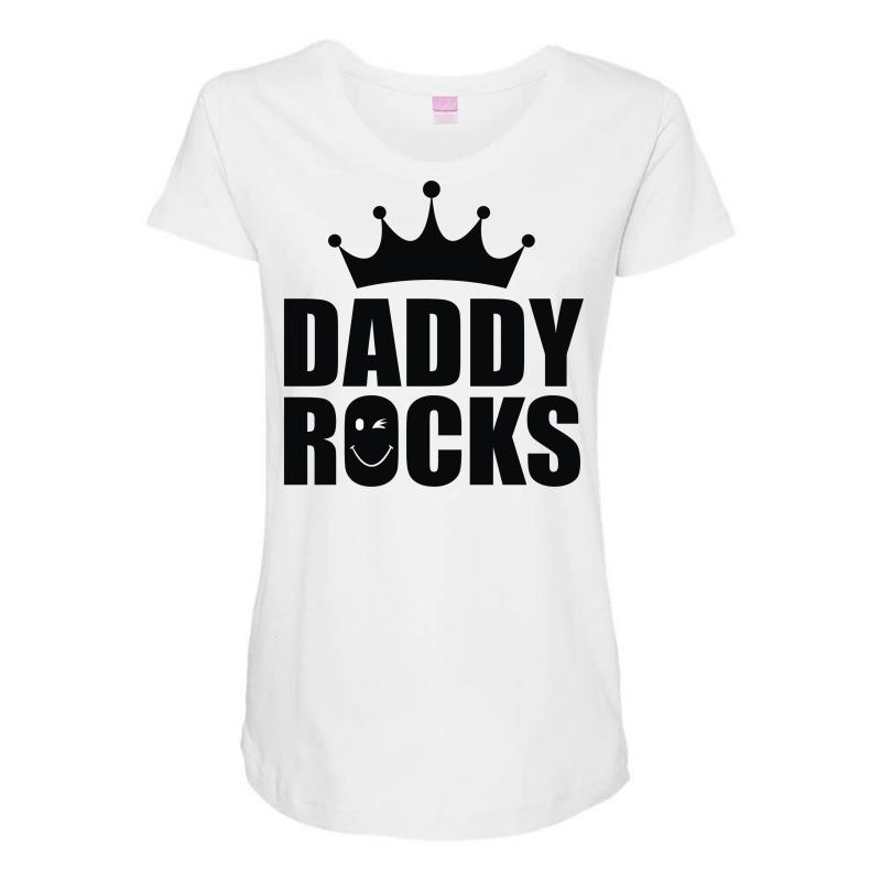 f2d93bb4 Custom Daddy Rocks Maternity Scoop Neck T-shirt By Monstore - Artistshot