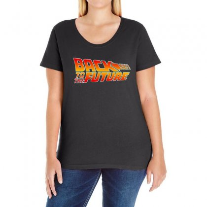 Back Future Ladies Curvy T-shirt Designed By Love