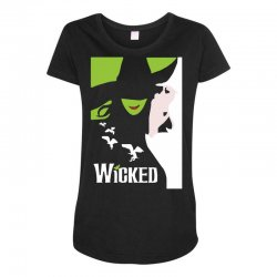 wicked broadway musical about wizard of oz Maternity Scoop Neck T-shirt | Artistshot
