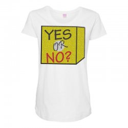 yes our no Maternity Scoop Neck T-shirt | Artistshot