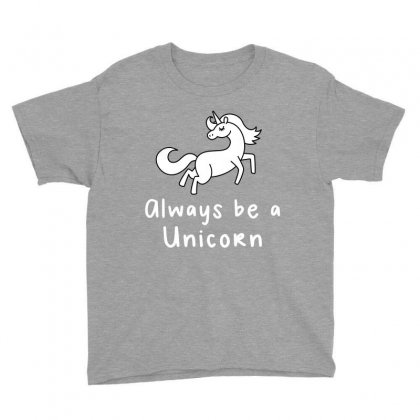 Always Be A Unicorn Youth Tee Designed By Ofutlu