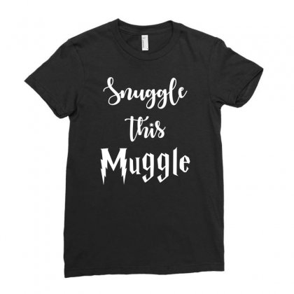 Snuggle This Muggle Ladies Fitted T-shirt