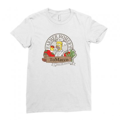 Farmer Homer's Tomacco Ladies Fitted T-shirt Designed By Monzart